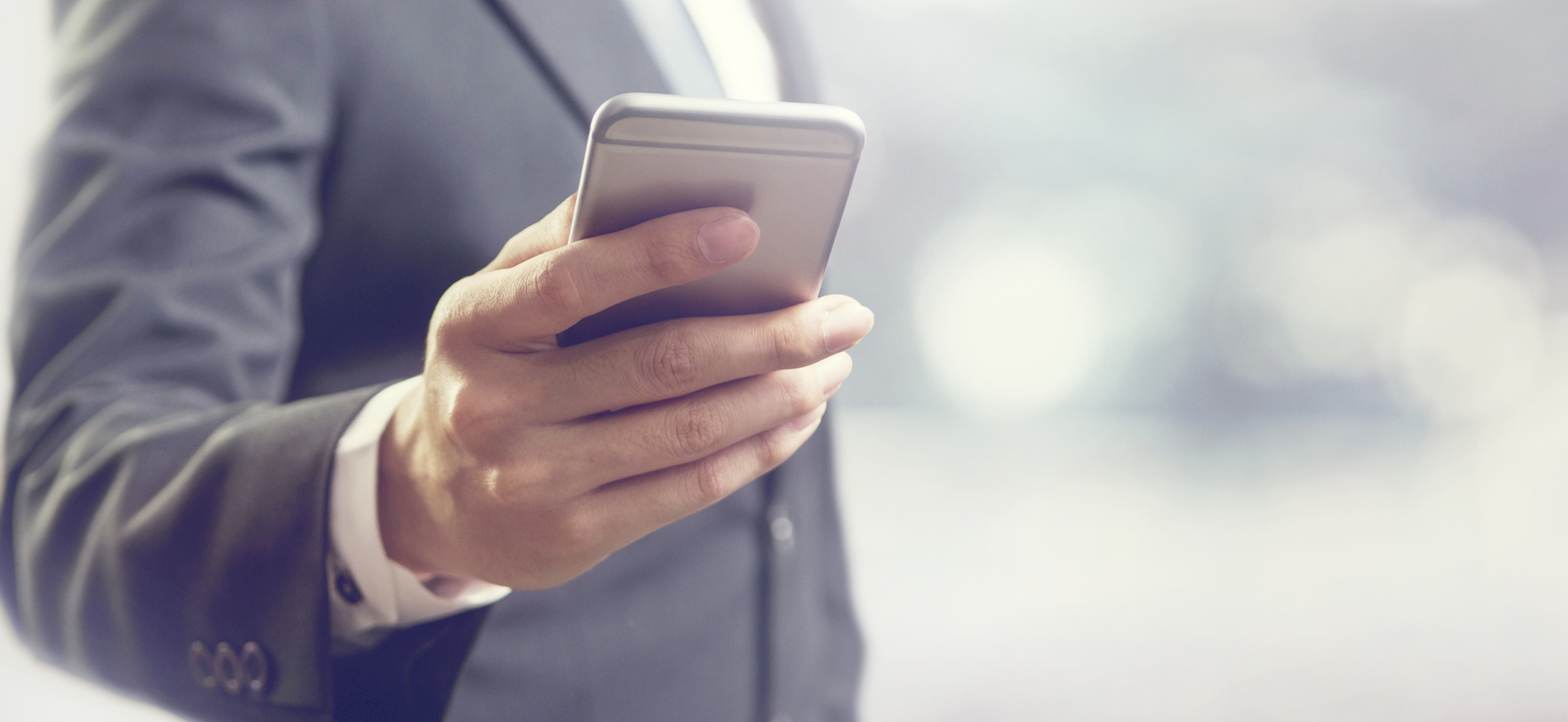 Business Man On Smartphone