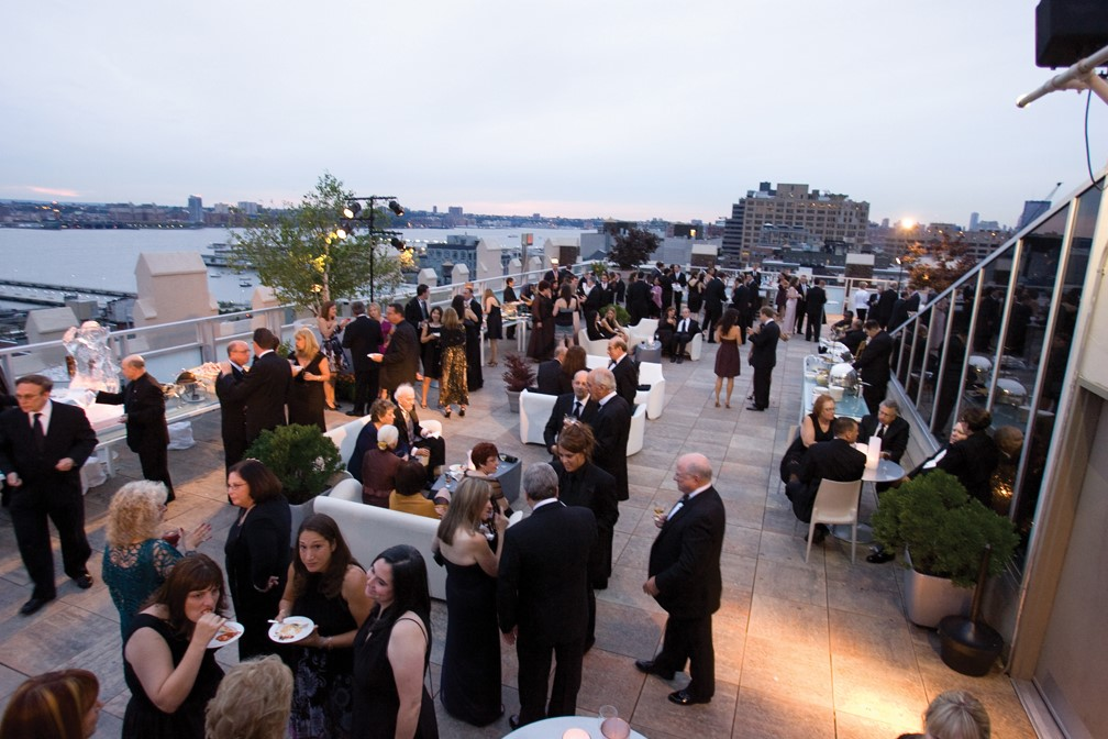 People at Fundraising Event at Tribeca Rooftop